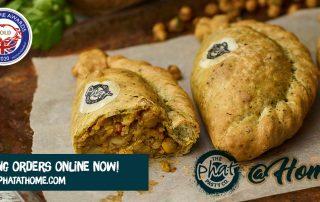 Keralan, Cauliflower, Chickpea & Onion Bhaji Pasty - Vegan pasty