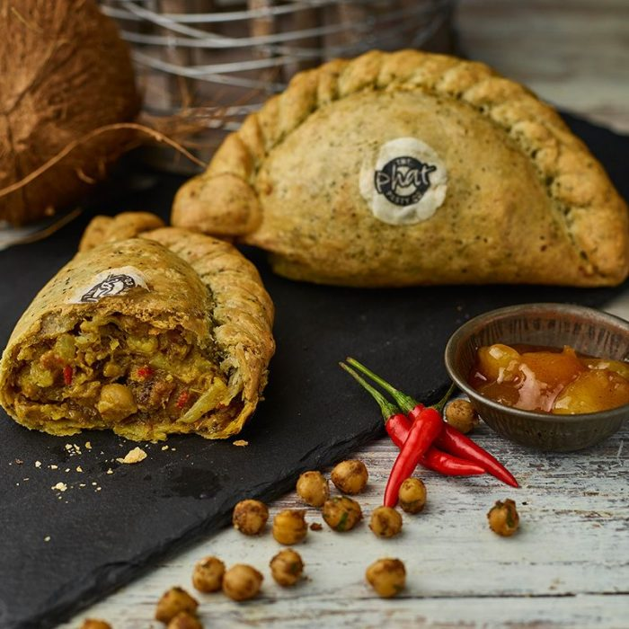 Keralan, Cauliflower, Chickpea & Onion Bhaji Pasty