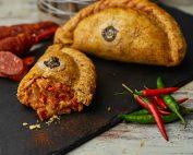 Spicy Chicken & Chorizo Pasty
