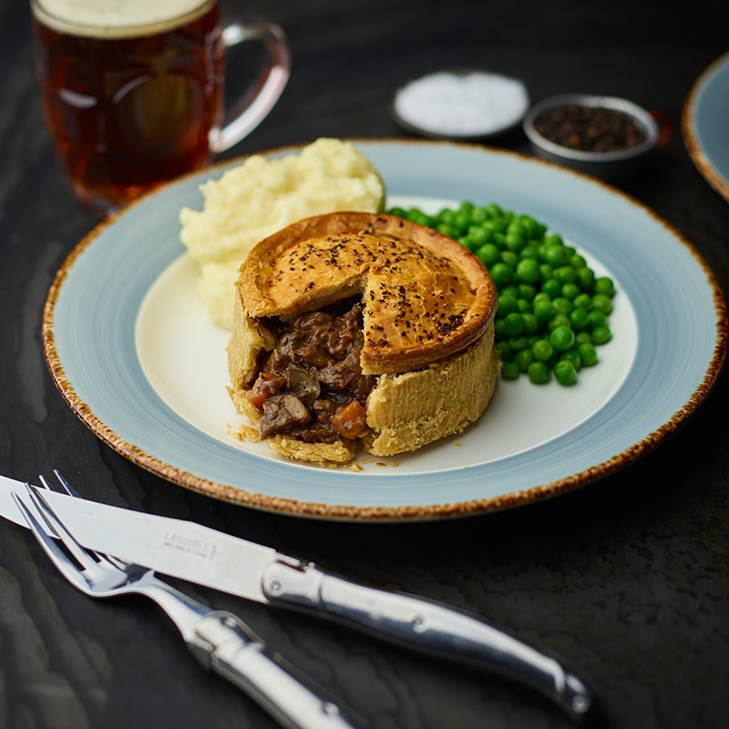Steak & Cornish Ale Pie