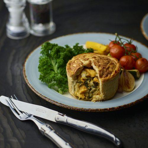 Vegetarian Pie- Sweet Potato, Spinach, Goat's Cheese Pie